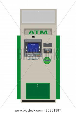 ATM Flat Design Vector Illustration