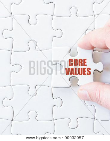 Missing Jigsaw Puzzle Piece With Words  Core Values