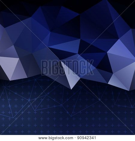 Blue Template Background