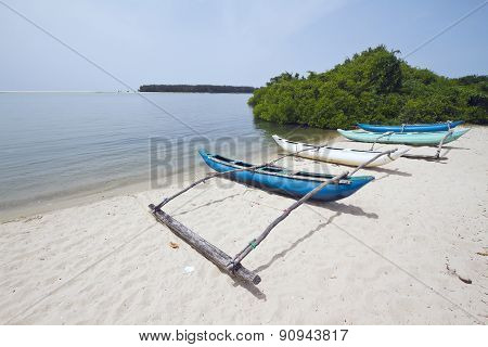 Dugout Boats In Batticaloa, Sri Lanka