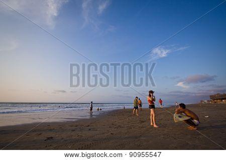 Beautiful view of Pedernales beach in Manabi, Ecuador