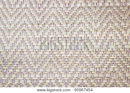 Sheet Of Woven Wood Pattern