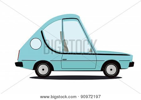 funny cartoon car illustration