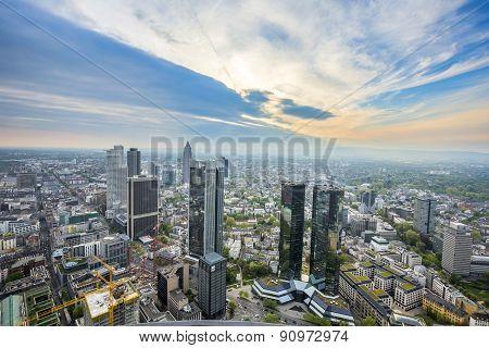 Panorama Of Frankfurt Am Main