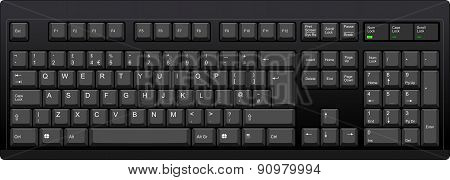 English Qwerty Uk Computer Black Keyboard