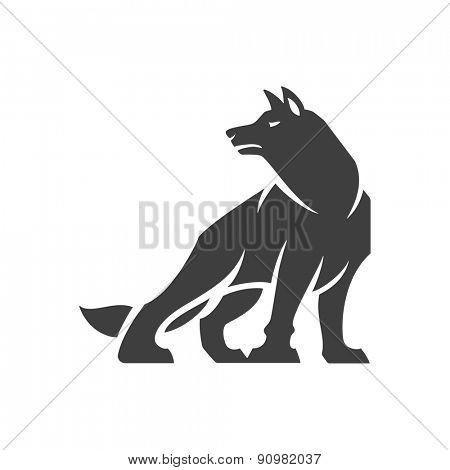 Wolf Logo Emblem Vector Photo Free Trial Bigstock