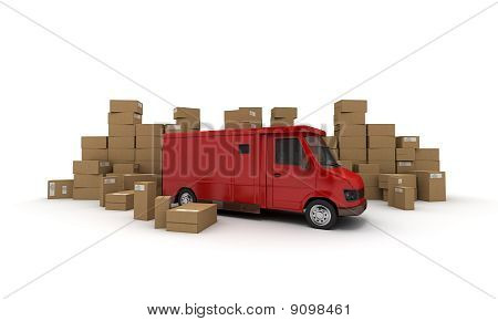 Van And Boxes