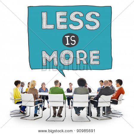 Less is More Minimal Simplicity Efficient Complexity Concept poster