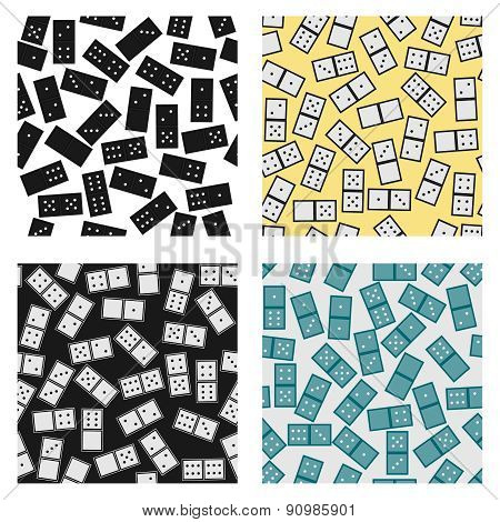 Seamless Pattern Of Domino