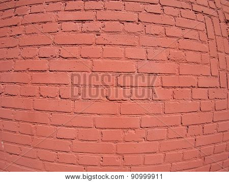A Fragment Of A Brick Wall Painted