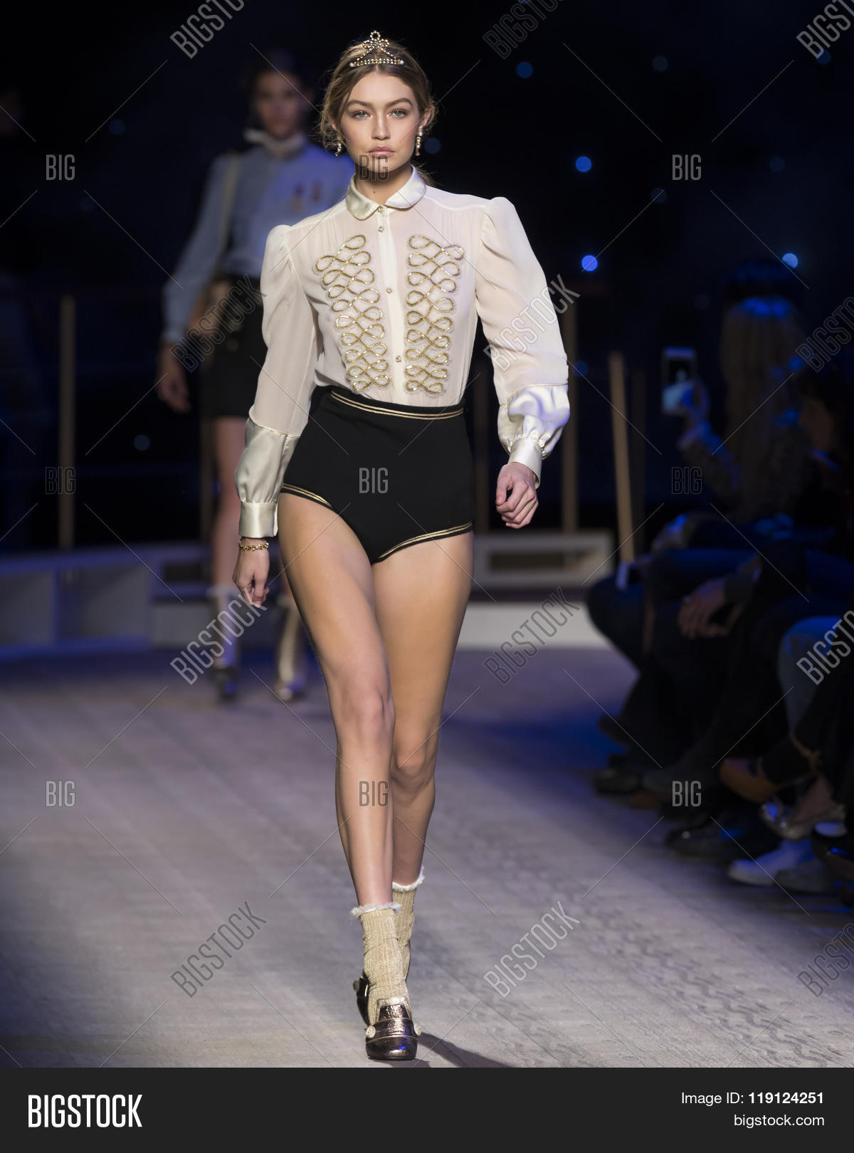 da77e72c New York City USA - February 15 2016: Gigi Hadid walks the runway during  the Tommy Hilfiger Women's show as a part of Fall 2016 New York Fashion Week  at ...