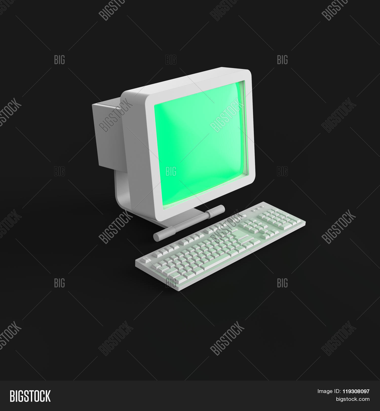 Old PC CRT Monitor Image & Photo (Free Trial)   Bigstock