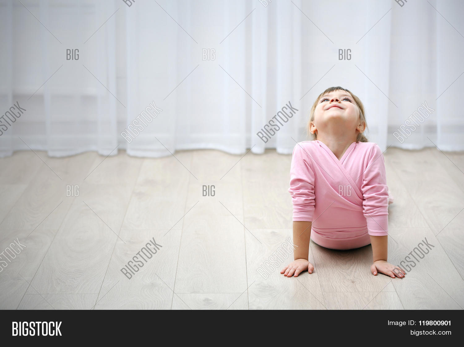 1649cafe827d Little Cute Girl Pink Image   Photo (Free Trial)