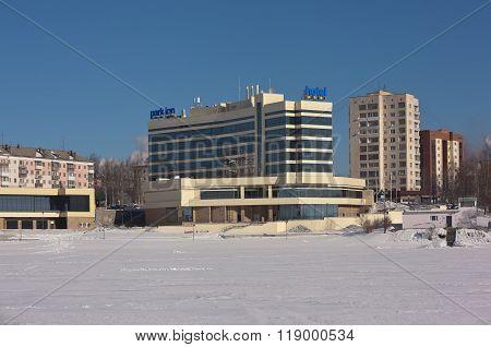 NIZHNY TAGIL, RUSSIA - FEBRUARY 16, 2016: Photo of The hotel