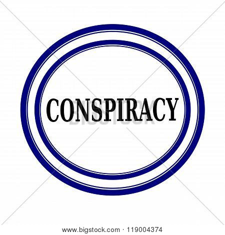 Conspiracy Black Stamp Text On White Backgroud
