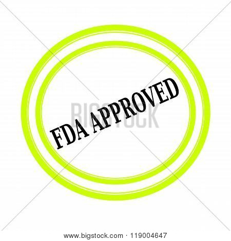 Fda Approved Black Stamp Text On White