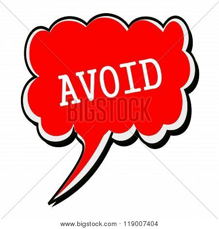 Avoid White Stamp Text On Red Speech Bubble