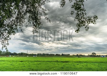 Special Type Of Weather That Is Also Known As Asperatus Clouds, Kampen, Overijssel