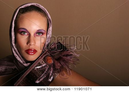 Beautiful glamorous woman model portrait