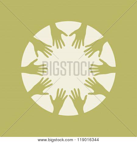 People Hands United Together. Illustration Of Teamwork