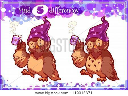 Education Game For Preschool Kids, Find The Differences.
