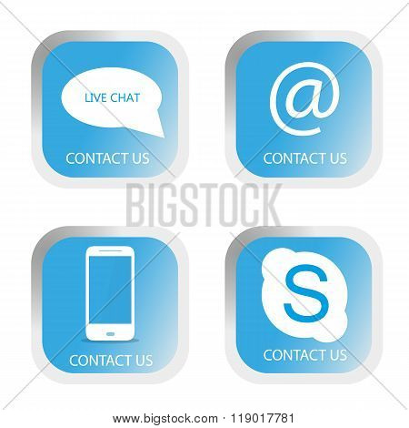 Contact us buttons set