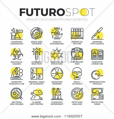 Genetics Lab Futuro Spot Icons
