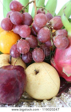 Pile Fresh Fruit.