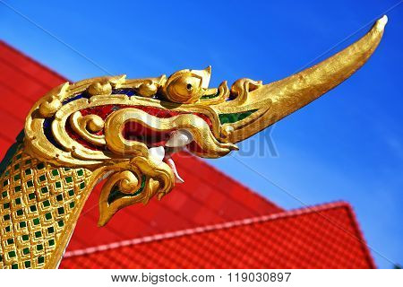 Thailand Abstract Cross Wood Drake  In The Temple  Bangkok  Asia And Sky