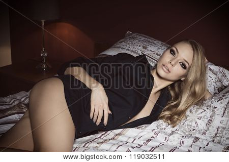 Relaxed Sexy Girl On Bed