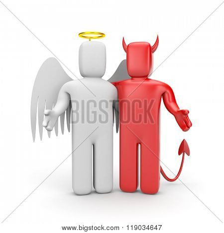 The friendship between angel and demon