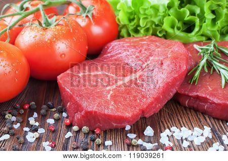 Fresh Raw Meat Beef Steak