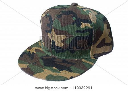 army cap hiphop fabric on white background