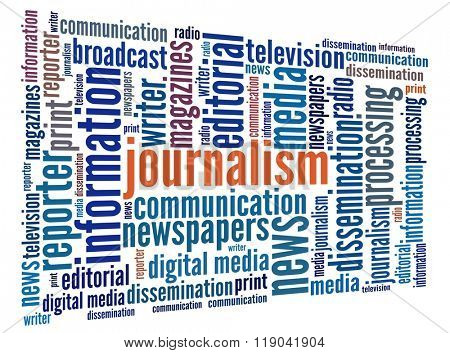 Journalism in word collage