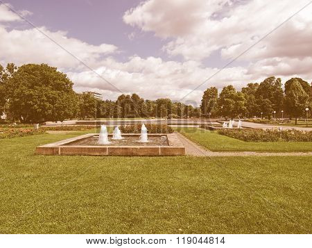 Gardens In Stuttgart, Germany Vintage