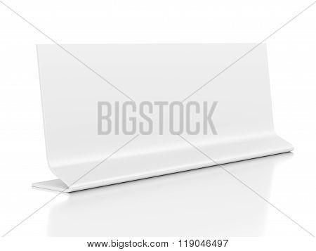 Identification Nameplate Isolated On White