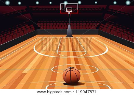 Basketball On Floor