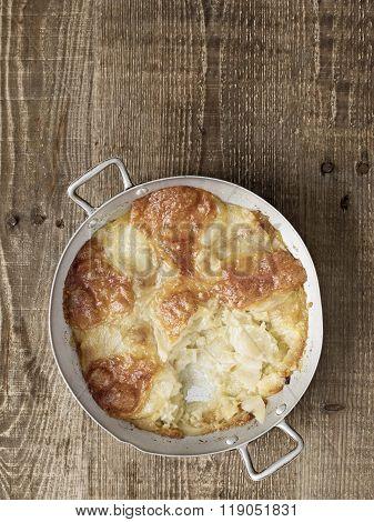 close up of rustic english pub grub pan haggerty poster