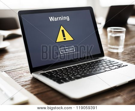 Warning Attention Alert Notification Security Sign Concept
