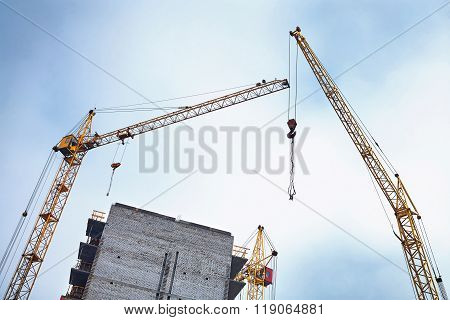 Construction Work On A Building Site