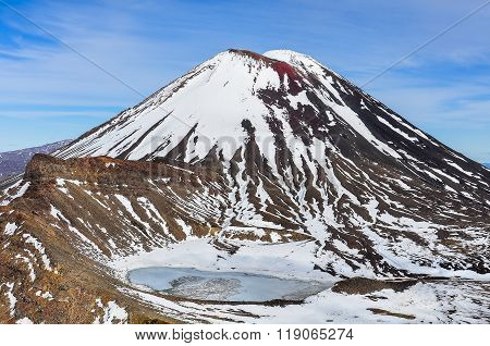 Mount Doom And The South Crater In The Tongariro National Park, New Zealand