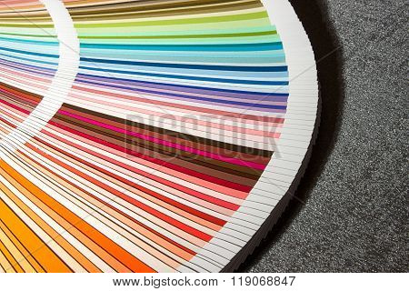 Color card, Color guide closeup, Color Chart, Color Swatch