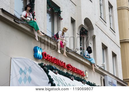 Mannequins On The Window