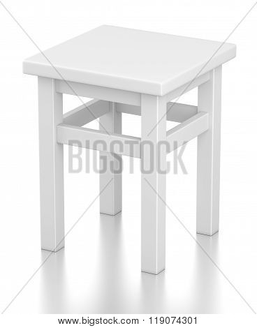 Gray Stool Isolated On White