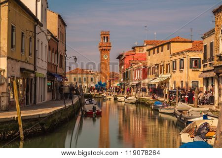 Buildings And The Bell Tower In Murano