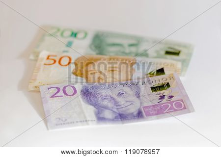 Swedish Currency, 20 Sek, 50 Sek And 200 Sek, New Layout 2015