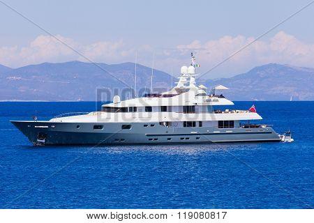 Motorized Luxury Yacht