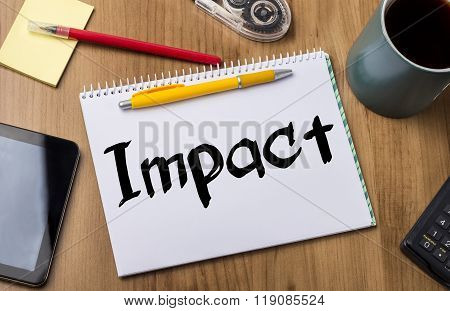 Impact - Note Pad With Text