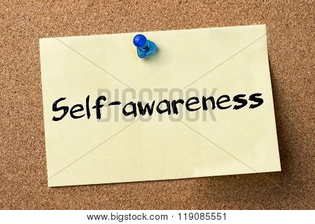 Self-awareness  - Adhesive Label Pinned On Bulletin Board