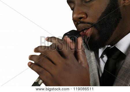 Jazz performance by afroamerican.